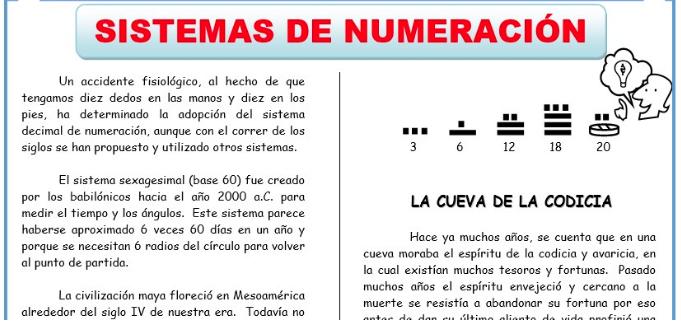 Sistemas de Numeración para Primero de Secundaria