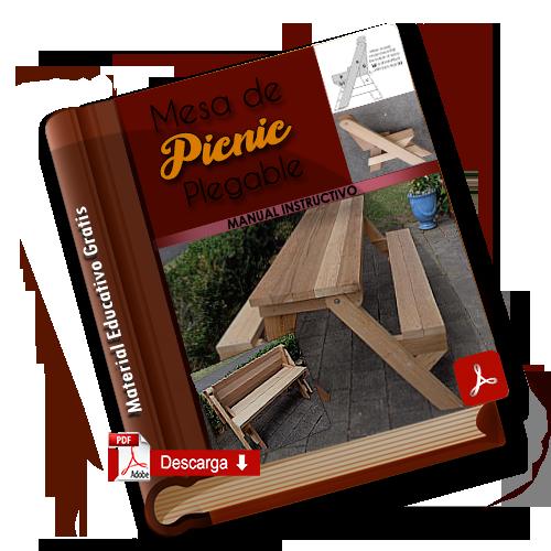 mesa para picnic de madera plegable